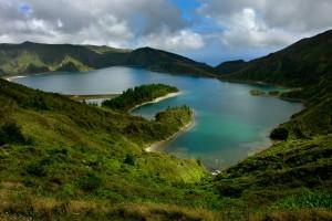 Lagoon de feu , les Açores