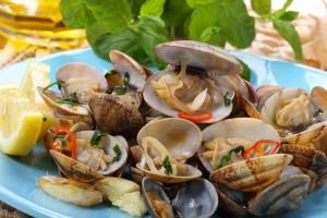 Plats de fruits de mer portugais