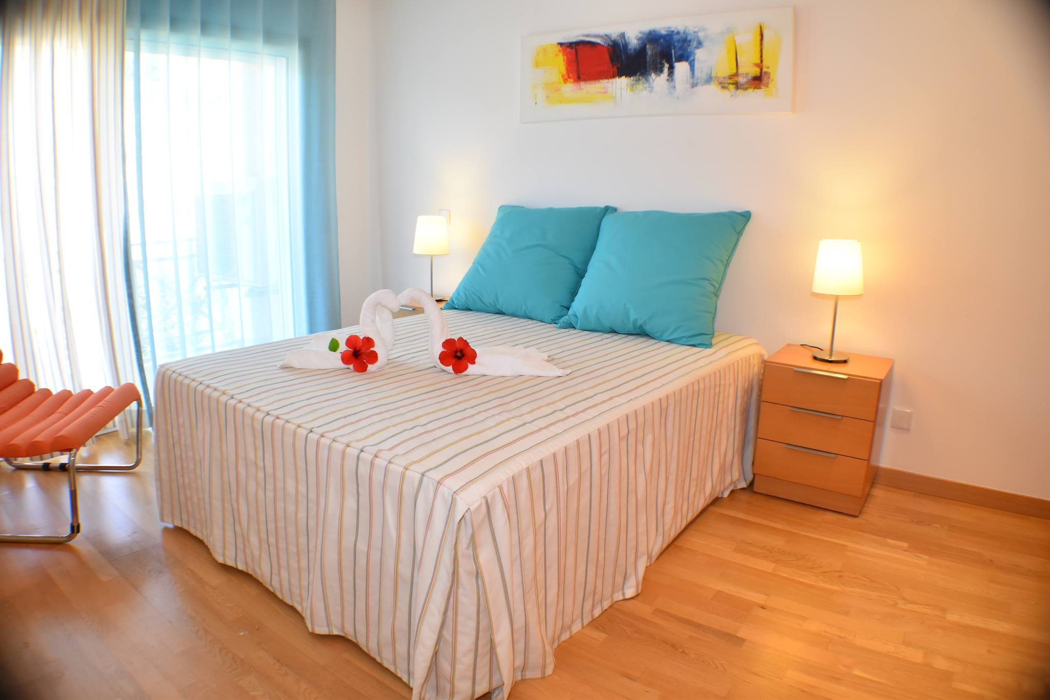 Stylish 2 Bedroom Duplex Apartment in Albufeira  - Apartment in walking distance to the beach Private condominium with pool