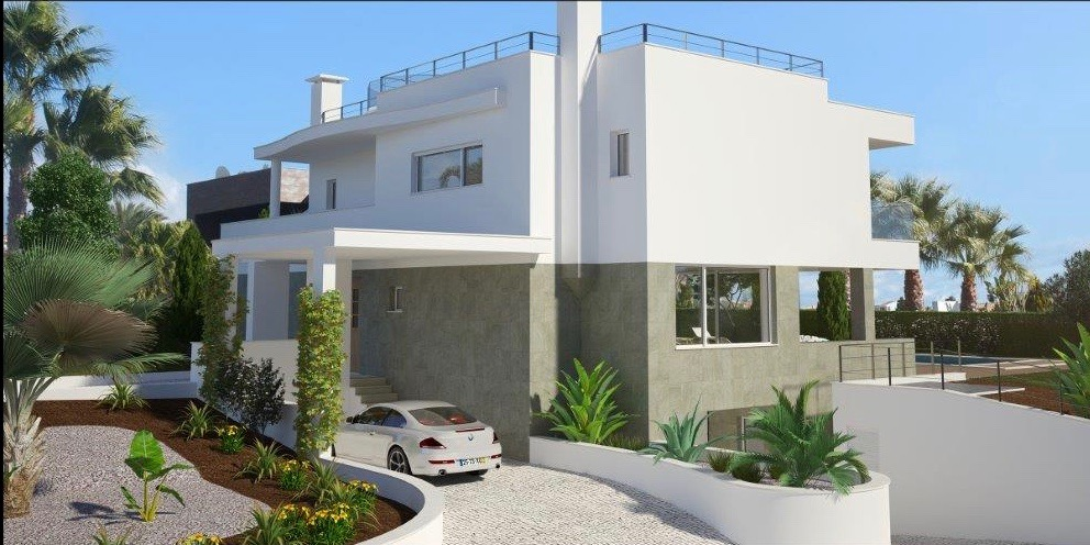 Living room leading to the covered terrace (73 m2) with outdoor Desirable 3 bedroom villa in Porto de Mós  - Algarve