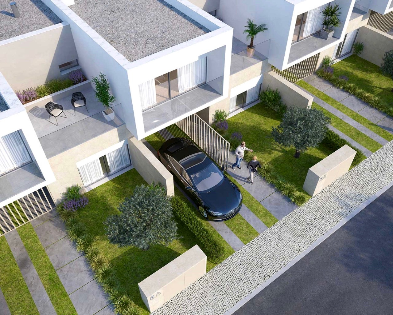 Modern 3 bedroom townhouse in Ferragudo  - House in closed condominium with pools Beautiful contemporary 3 bedroom house