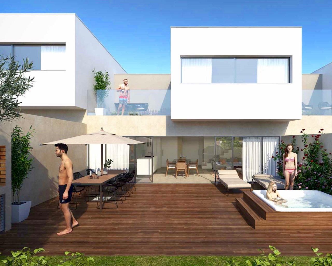 Galerie Photo Maison contemporaine de 3 chambres dans un condominium fermé à Ferragudo  - Maisons de ville