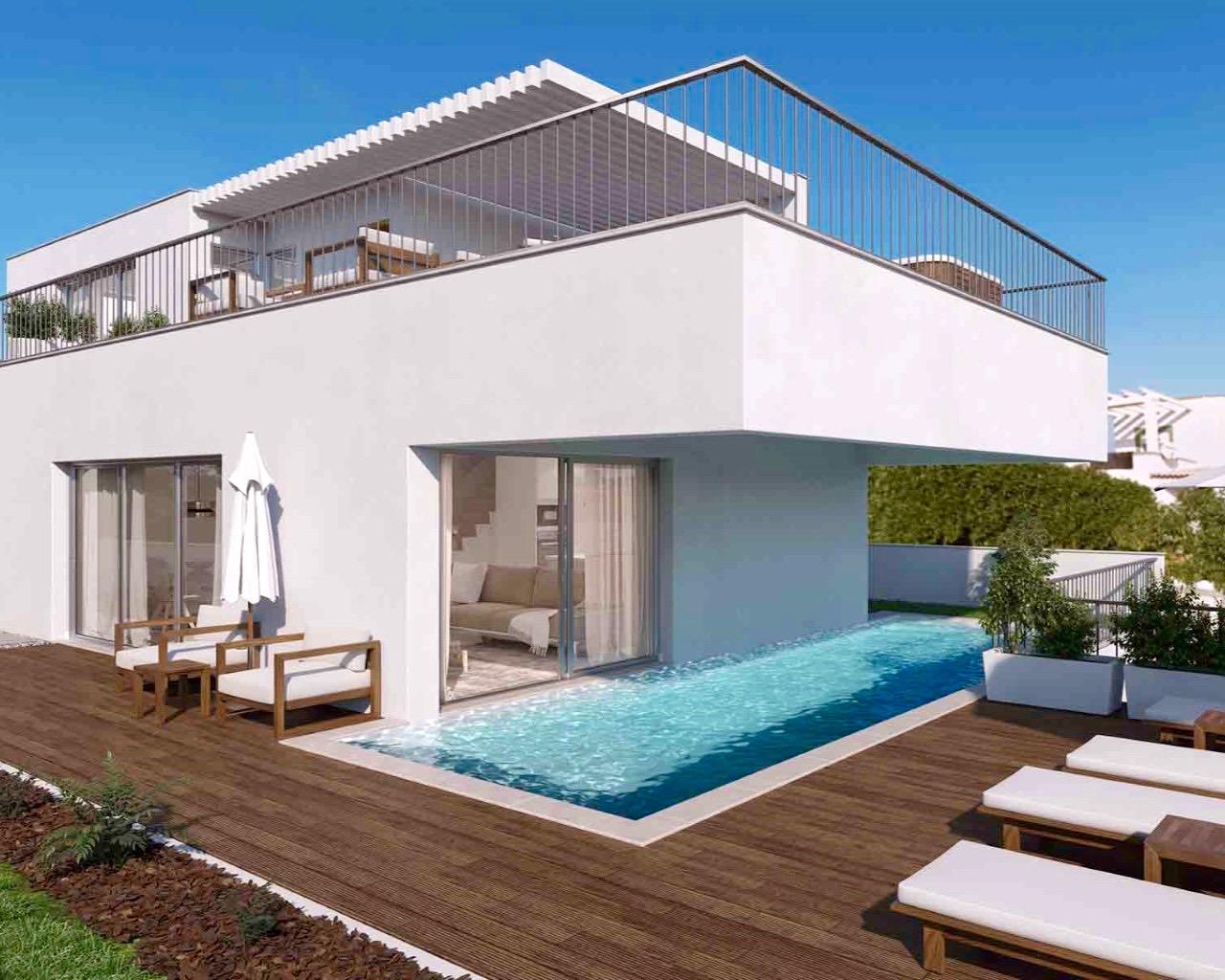 Galerie Photo Villa contemporaine de 3 chambres avec piscine individuelle, terrasses à Ferragudo  - Villas