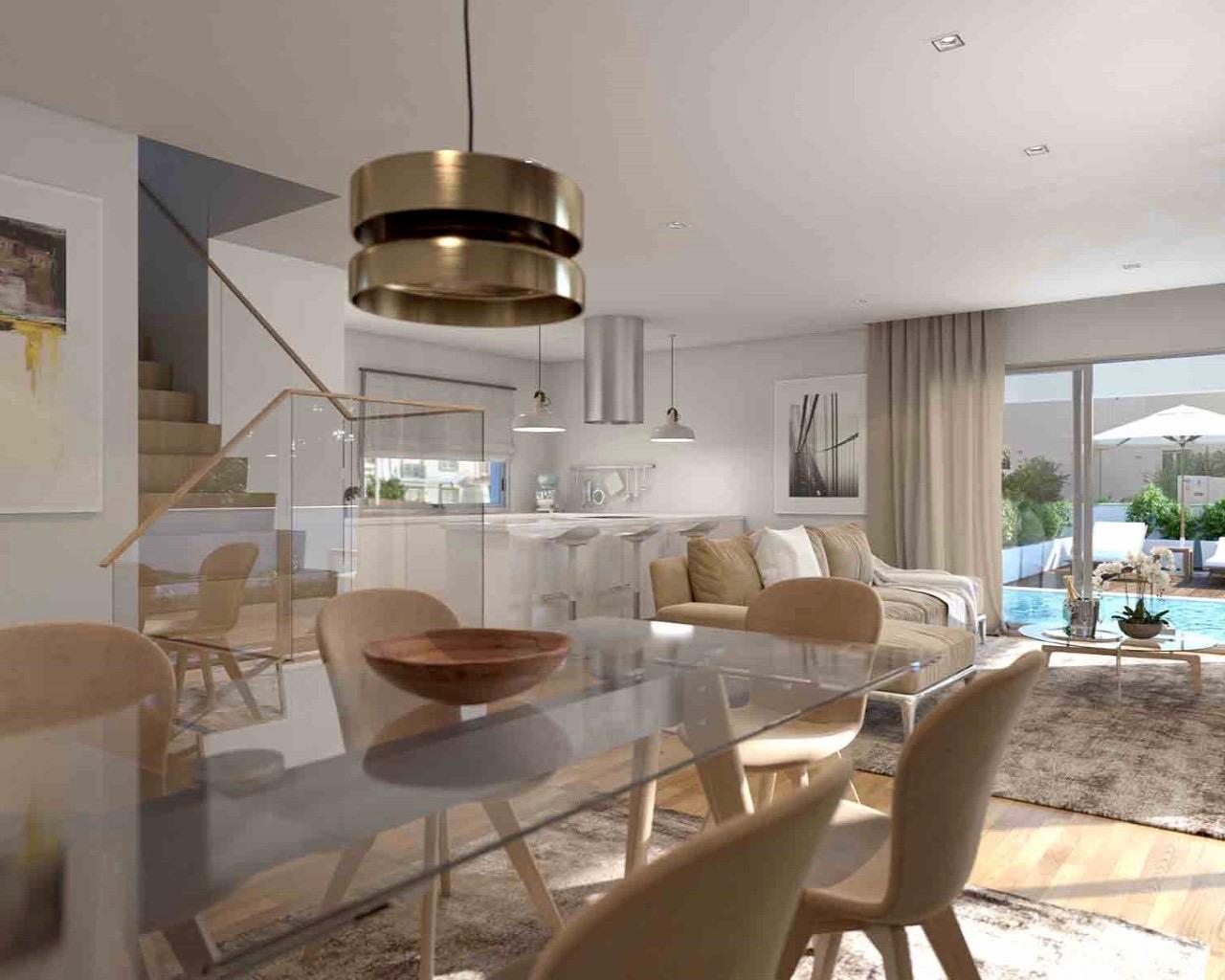 Algarve Villa contemporaine de 3 chambres avec piscine individuelle, terrasses à Ferragudo  - Ferragudo