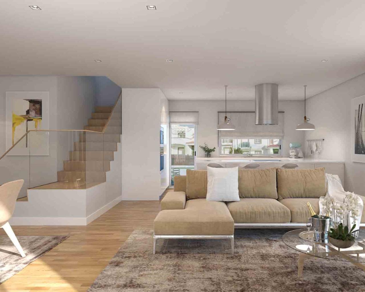 Villa contemporaine de 3 chambres avec piscine individuelle, terrasses à Ferragudo  - La maison se situe dans un ensemble de villas individuelles à