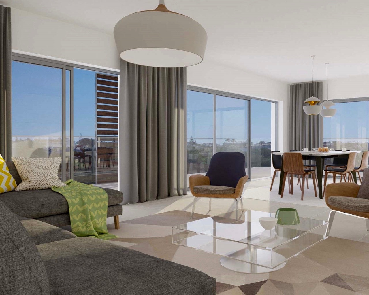 Appartement moderne inséré dans une résidence privée à Albufeira  - Belle 3 chambre appartement avec terrace 4 pièces avec terrasse et